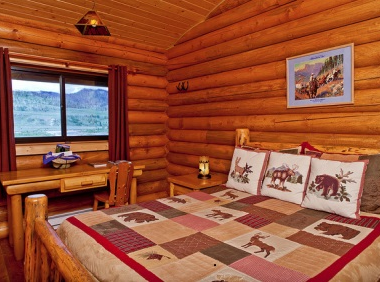 Quality cabins at the Goosewing Ranch in Wyoming