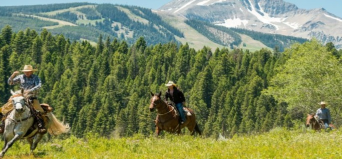 Good riding for families at the Lone Mountain Ranch in Montana