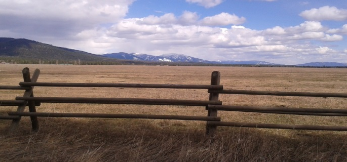 View from main lodge at the Richs Ranch in Montana