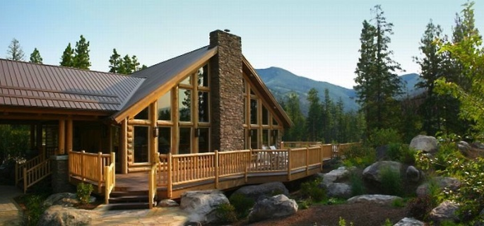 Triple Creek Luxury cabin exterior