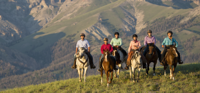 Wyoming Guest Ranch cowboy holiday for experienced horse riders