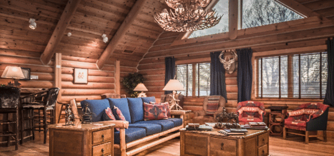 Luxury accommodation at Hideout Ranch Wyoming