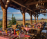 Day time ranch resort dining at Brush Creek Ranch