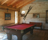 Pool table at this ranch in idaho