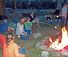 Teenagers have fun at the focus campfire camp
