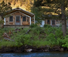 Honeymoon trapper cabin by river in Montana