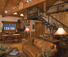 Paws up Ponderosa Pine Living room cabin